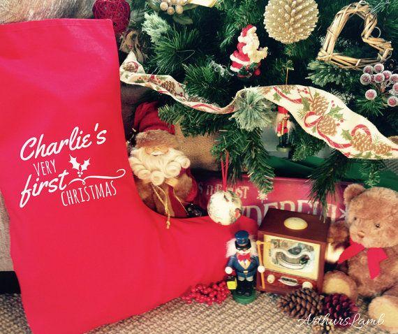 First Christmas Stocking,1st Christmas,Personalized Christmas Stockings,Personalised Christmas Stocking,Personalised Stocking,Large Stocking