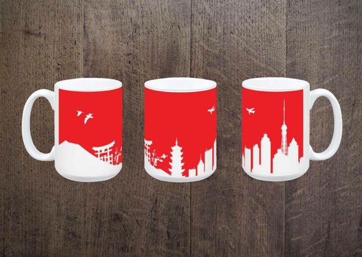 Rising Sun Mug  Also available in a black mug