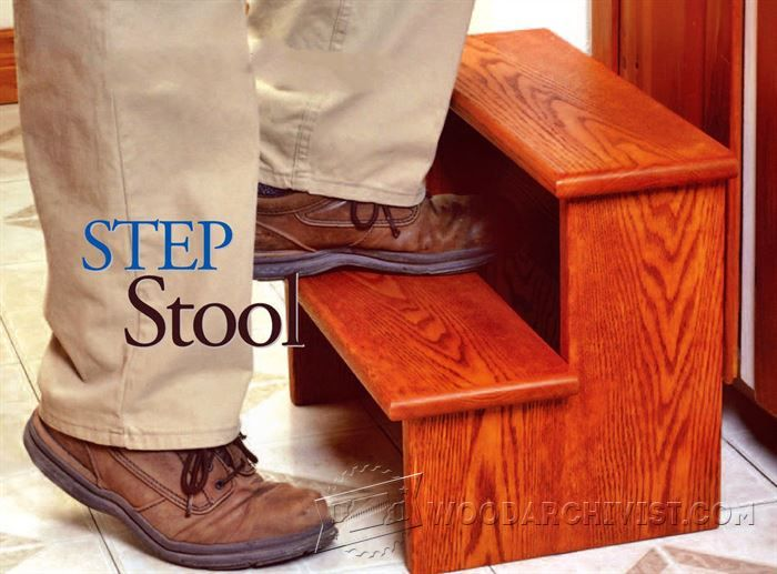 Step Stool Plans - Furniture Plans and Projects - Woodwork, Woodworking, Woodworking Plans, Woodworking Projects