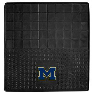 FANMATS 10819 University of Michigan Wolverines Cargo Vinyl Mat by Fanmats. $26.88. Protect your vehicle's flooring and your cargo while displaying your team pride with cargo mats by Fan Mats. They have a 100 per cent heavy duty vinyl construction with non-skid backing which ensures a rugged and safe product. Universal fit makes it ideal for cars, trucks, SUVs, and RVs. The officially licensed designs in true team colors are permanently molded for longevity.