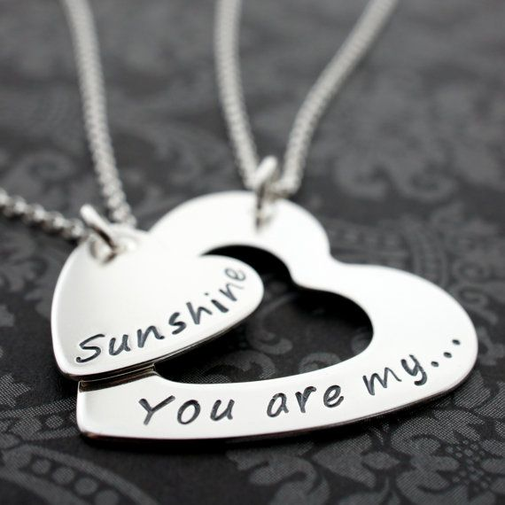 You Are My Sunshine Heart Infinity Jewelry by EclecticWendyDesigns