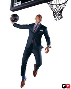 russell westbrook in Prada...Basketball Players, Okc Thunder, Blue Suits, Nba, Russell Westbrook, Men Fashion, Men Shoes, Navy Suits Brown Shoes, Oklahoma Cities Thunder