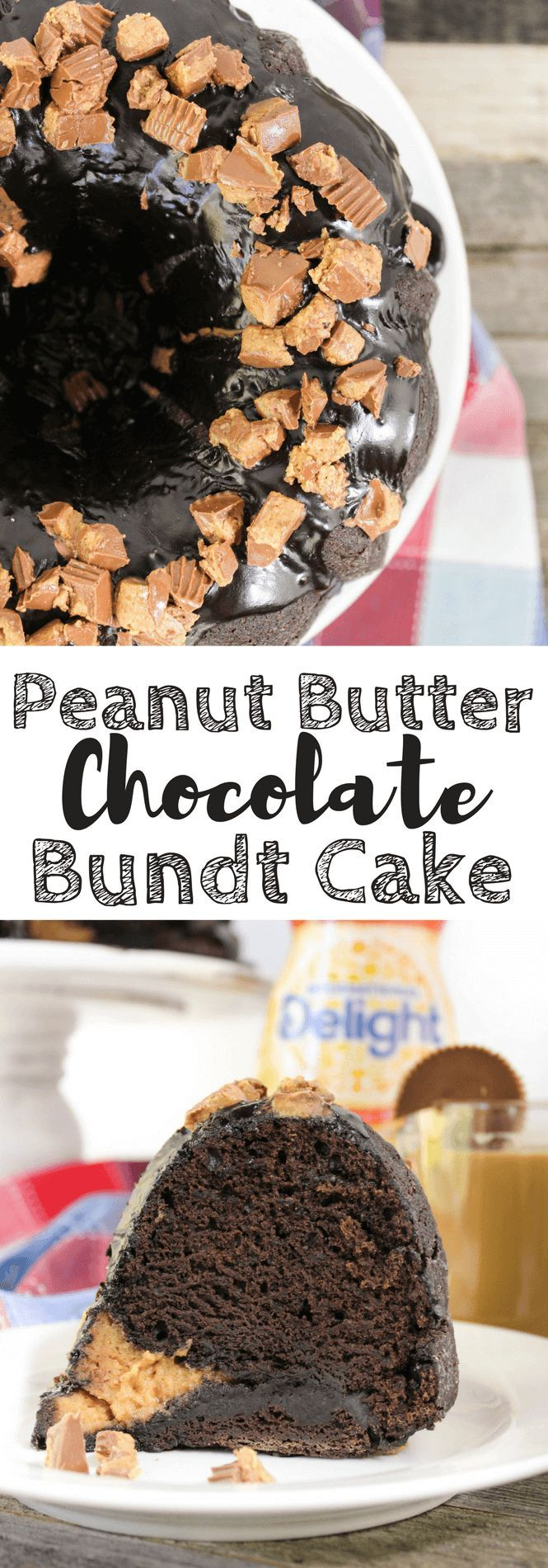 Peanut Butter Chocolate Bundt Cake #ad #DelightfulMoments @walmart