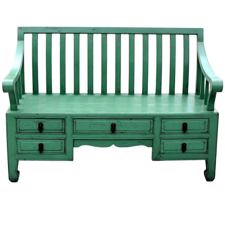 Green Asian Bench, Settee | From a unique collection of antique and modern furniture at https://www.1stdibs.com/furniture/asian-art-furniture/furniture/