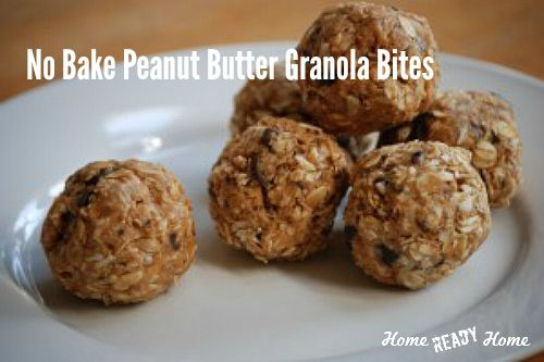 """Don't you just love easy recipes? I'll admit I can be """"cook from scratch"""" challenged, so I'm always on the lookout for easy recipes that taste good.No-Bake Peanut Butter Granola Bites fit the bill. They are super simple to make, taste tested and kid-approved! But what I love most of all, is the no-bake factor.[Read More...]"""