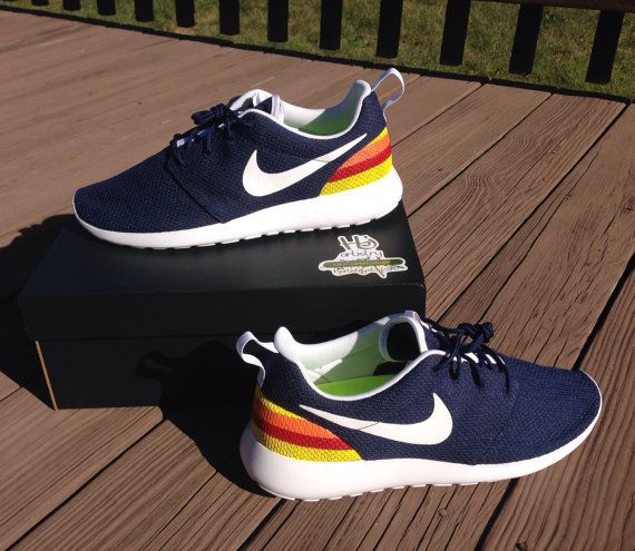 Houston Astros Inspired Nikes. Astros Nike Roshe or Nike