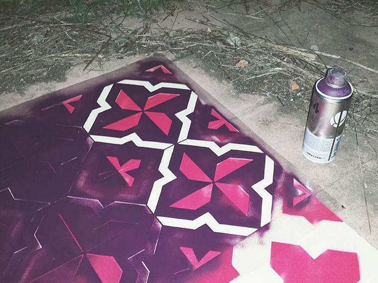 Floor-Street-Art-Javier-de-Riba-4 Floors Street Art – Peindre du carrelage coloré dans des bâtiments abandonnés