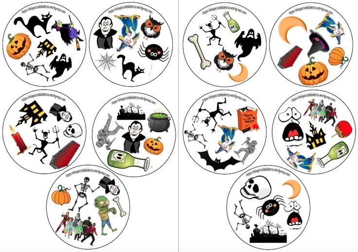 ¡Ay! Que casi no llego... Vais a pensar que en mis clases solo juego al Dobble, porque aquí os traigo una versión nueva para Halloween...muahahahaha (léase con risa malvada). Prometo variar y subir...