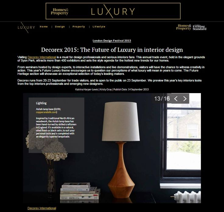 Evening Standard Luxury - Asilah (Natural) table lamp