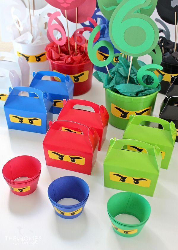 Diy Ninjago Party Decor Henry S 6th Birthday Party Ninjago