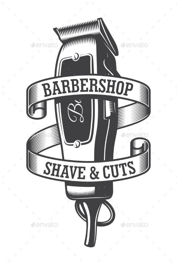 Vintage Monochrome Hairdresser Salon Logo Hairdresser Salon Barber Shop Logo Barber Shop