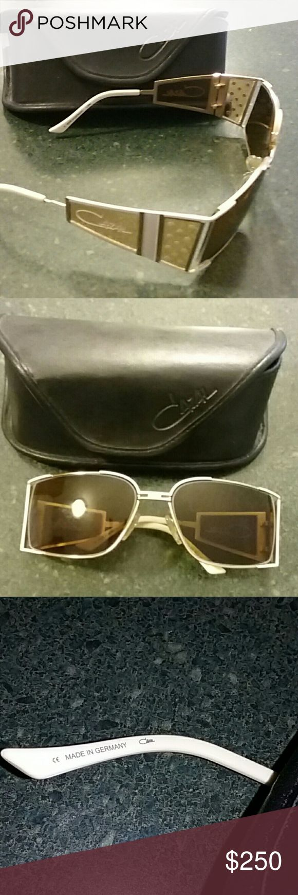 CAZAL SUNGLASSES CAZAL OLD FASHIONED GLASSES COLOR WHITE /BROWN.  MADE IN GERMANY  VERY GOOD CONDITION. cazal Accessories Glasses