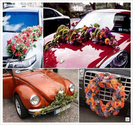 17 best images about hochzeit autoschmuck on pinterest search gothic halloween and bouquets - Decoration florale mariage ...
