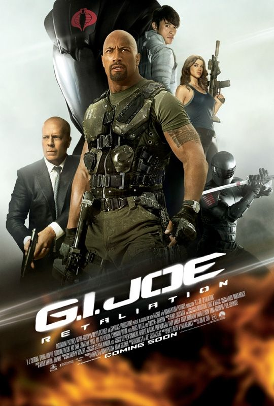 New international one-sheet for G.I Joe Retaliation starring Dwayne Johnson and Bruce Willis. Out in UK cinemas 3 August | Empire: Gi Joe, Bruce Willis, Dwayne Johnson, Action Movies, Joe Retali, Movies Online, Watches Movies, Movies Trailers, Full Movies