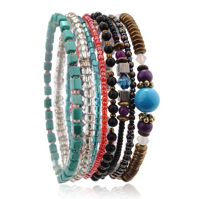 Crystal Beads Stackable Bracelets