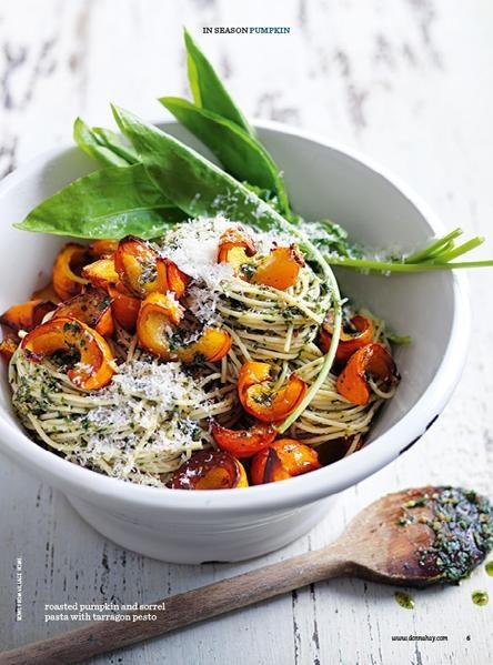 Roasted pumpkin and sorrel pasta | Donna Hay