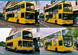 4 BUS Photos Transdev Yellow Buses Bournemouth Volvo B7 Double Deckers 2008 | eBay