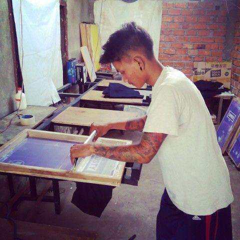 Screen printing work