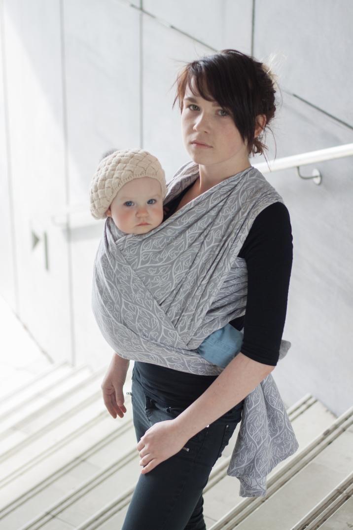klikněte pro detail - Šátek Loktu She BIRD GARDEN Grey velikost 4,6m cena 2500,-