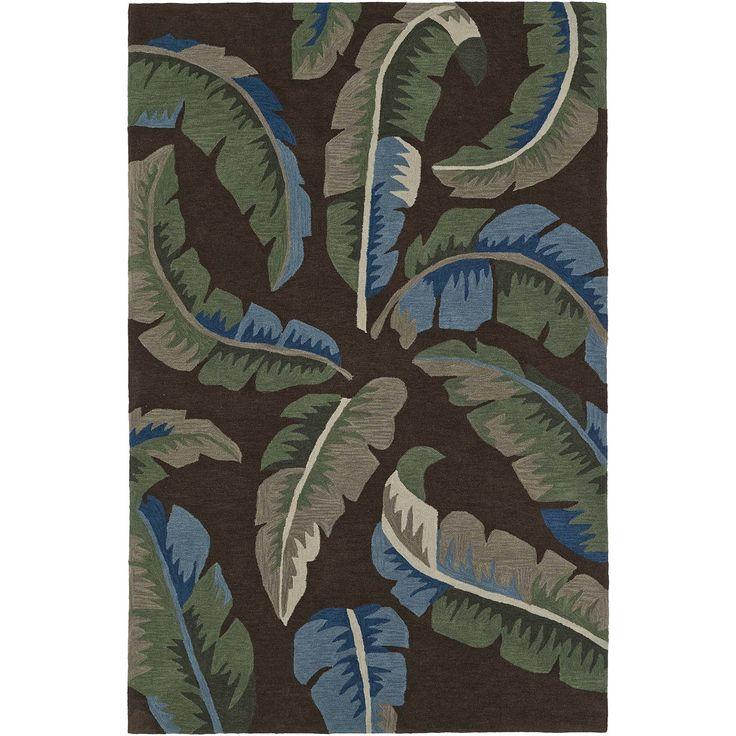 Addison Nassau Banana Leaf /Multi Plush Area Rug