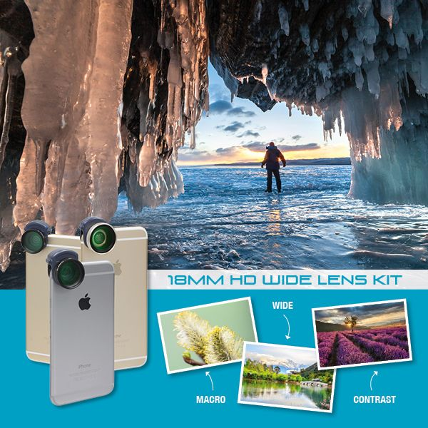 Inmacus 18mm HD Wide Lens Kit for iPhone 6/6s