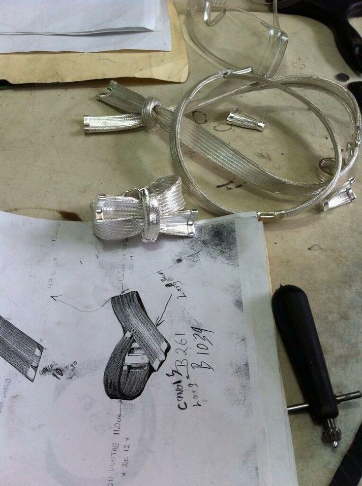Y estas son las prendas de plata, casi terminadas...