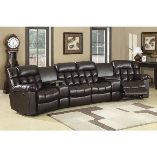 Coaster Furniture 600004R Natalie Modern Leather Home Theater Seating