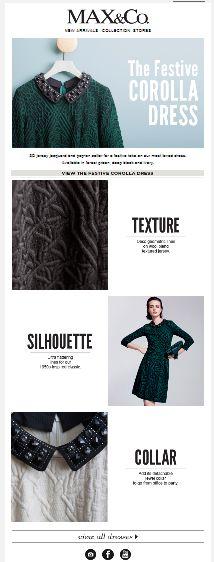 "SUB: ""3 reasons to love our Festive Collara Dress""  Anche l'italianissimo brand Max&co parla inglese!"