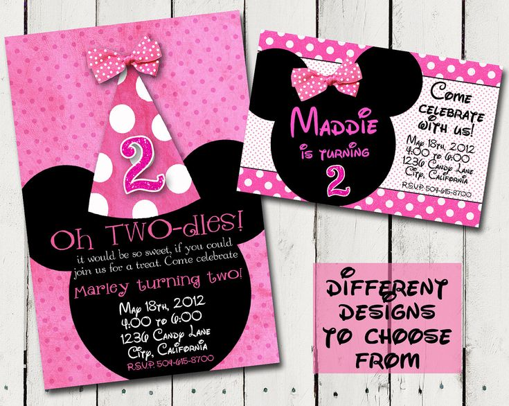 76 best Minnie Mouse bday 2nd birthday images – Minnie Mouse 2nd Birthday Invitation Wording