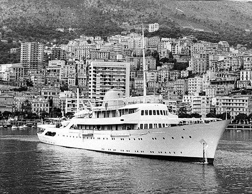 "Onassis' yacht ""Christina"""