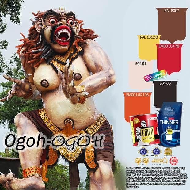 Ogoh-Ogoh, Tradisi Memeriahkan Upacara Ngerupukan Bali #Trend #Lifestyle #EMCOPaint http://matarampaint.com/detailNews.php?n=348