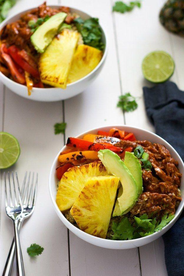 Hawaiian Pork Burrito Bowls | 15 Slow Cooker Recipes That Are Actually Healthy