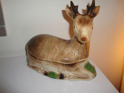 Très jolie Terrine chevreuil CAUGANT  in Céramiques, verres, Céramiques, vaisselle déco, Pots, terrines | eBay