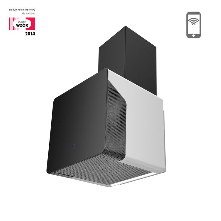Okap kominowy Ciarko Design Cube Neon szary http://www.sklep.ciarkodesign.pl/e-sklep/okapy-kominowe/cube-neon-grey-detail #DESIGN #KITCHEN #OKAP #HOOD