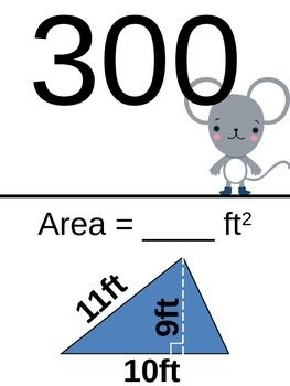 Area of Triangles Scavenger Hunt. (Easier Problems)