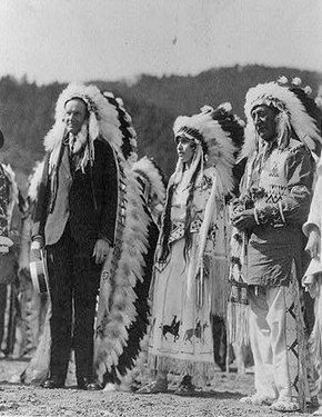On July 4, 1872, Calvin Coolidge was born and would become the 30th president of the United States, when he got to put on an Indian headdress and pose for this picture. Actually in 1924, President Coolidge signed a bill granting Native Americans full citizenship in their native country. In the photo left, Coolidge was made a chief of the Sioux by Henry Standing Bear.