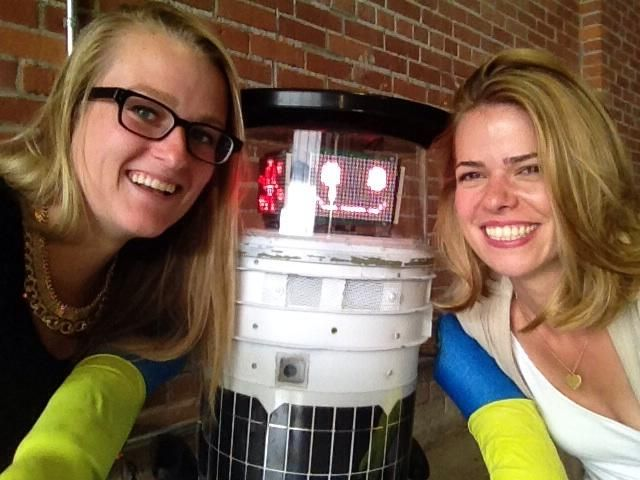 Retweeted by hitchBOT | Marieke Walsh @MariekeWalsh • July 24 • Met @hitchBOT today w @lucielu15 at @NSCADUniversity, he starts hitch hiking across Canada on Sunday @globalhalifax