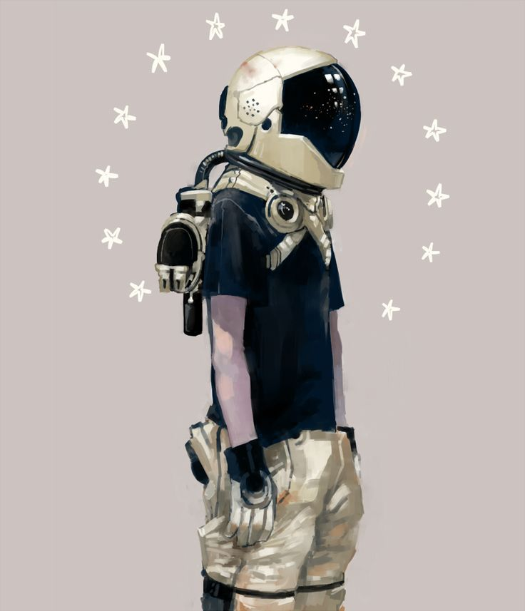 Astronaut | By Arrrkal [Drawing - Illustration - Digital - Space - Helmet]