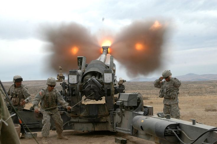 The M198 howitzer is a medium-sized, towed artillery piece, developed for service with the United States Army and Marine Corps. It was commissioned to be a lightweight replacement for the WWII-era M114 155mm howitzer. It was designed and prototyped at the Rock Island Arsenal in 1969 with firing tests beginning in 1970 and went in to full production there in 1978. It entered service in 1979 and since then 1,600 units have been produced and put into operation.