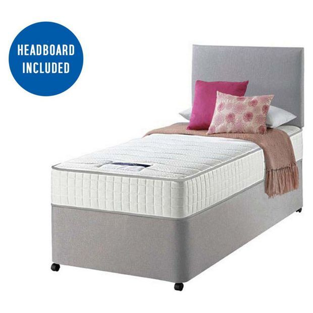 Best Single Beds Uk Part - 26: Buy Silentnight Middleton Pocket Memory Single Divan Bed At Argos.co.uk -  Your
