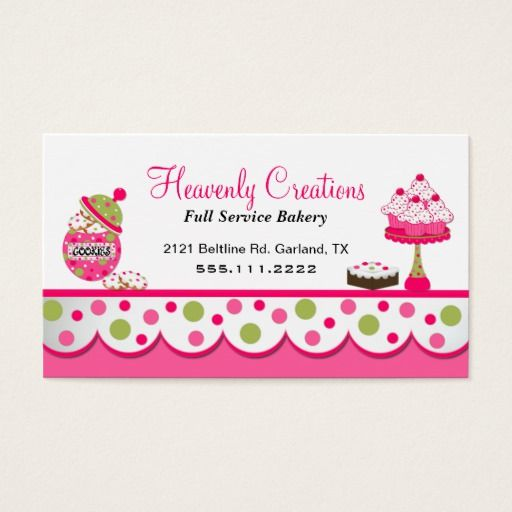 Bakery business card juvecenitdelacabrera bakery business card reheart Images