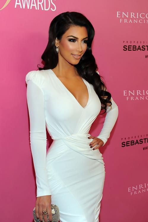 By far Kim Kardashians best look to date. She looks very classy. I'm not the biggest fan but she looks absolutely amazing.