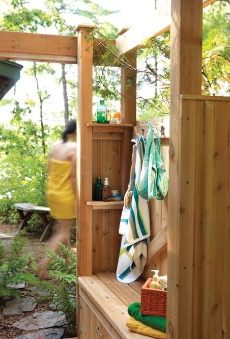 65 best images about outdoor shower on pinterest outdoor - How to make an outdoor shower ...