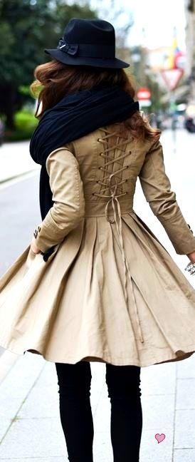 swing coat corset back fall colors fall coat - full details→ http://myclothingwebsitesforwomen.blogspot.com/2012/09/swing-coat-corset-back-f...