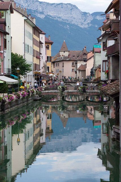 Annecy by Arkaniis, via Flickr -- when I went here, carnival was going on.. so reminiscent of venice