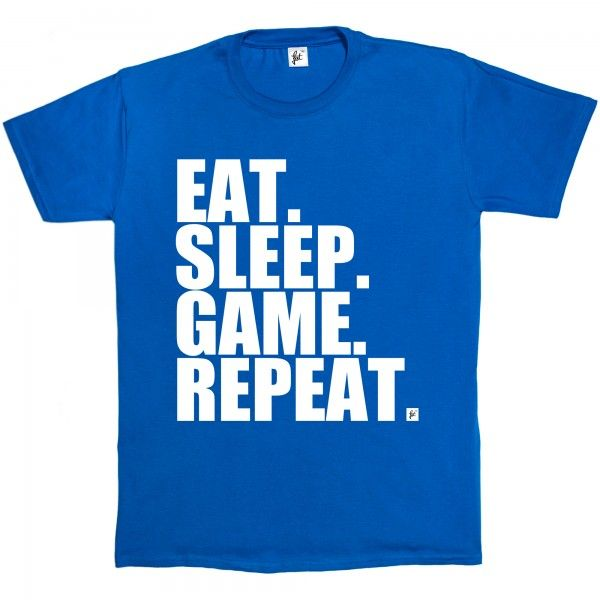 Eat. Sleep. Game. Repeat. Gamer Repeat Nerd Geek - Fancy A T-Shirt