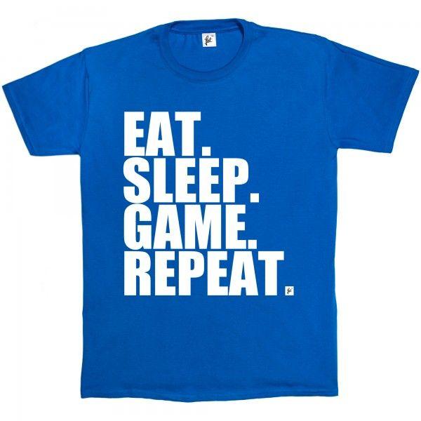 Eat. Sleep. Game. Repeat. Gamer Repeat Nerd Geek - Fancy A T-Shirt