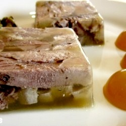 Beef tongue with mustard aspic terrine...because the first thing I would make is tongue jello