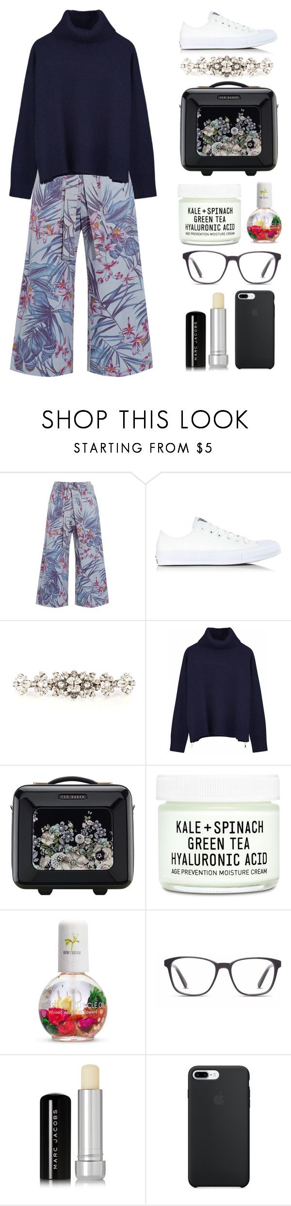 """""""5.762"""" by katrinattack ❤ liked on Polyvore featuring SUNO New York, Converse, Dolce&Gabbana, Ille De Cocos, Ted Baker, Youth To The People, Forever 21, Finlay & Co. and Marc Jacobs"""