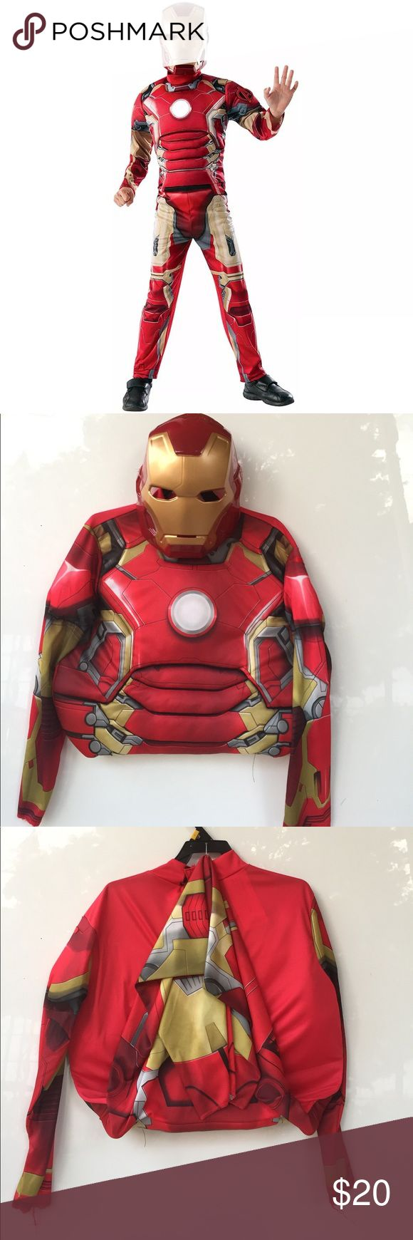 Iron Man Muscle Chest Jumpsuit Boys Costume Muscle Chest